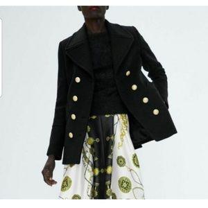 Zara peacoat military coat (7891)
